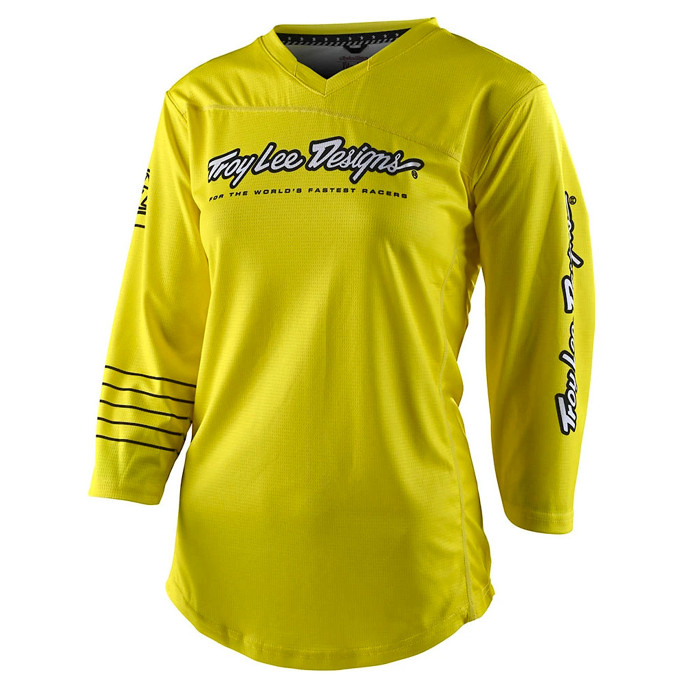 Troy Lee Designs Mischief Women's Jersey (Solid Yellow)