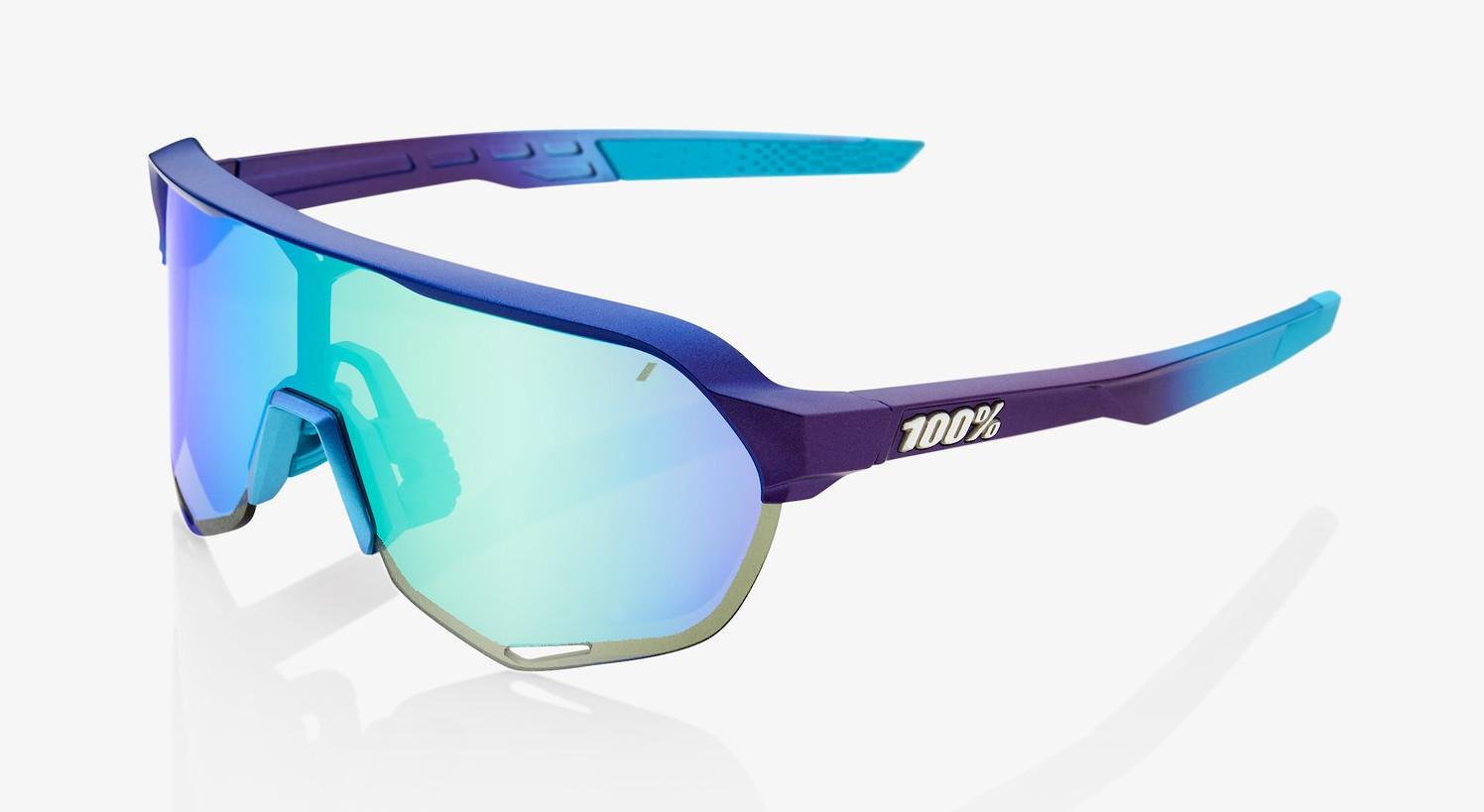 100% S2 - Matte Metallic Into the Fade Blue, Topaz Multilayer Mirror Lens