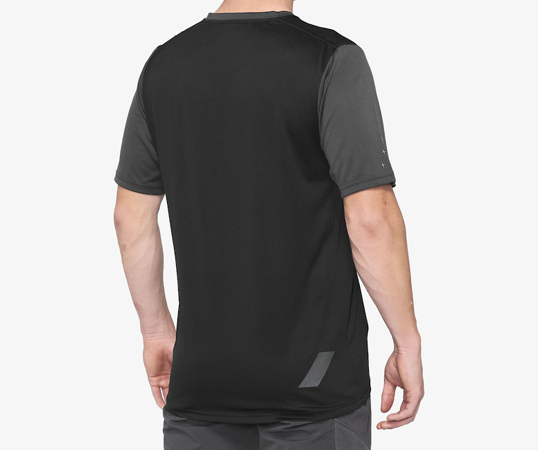 100% RideCamp Riding Jersey - Charcoal/Black