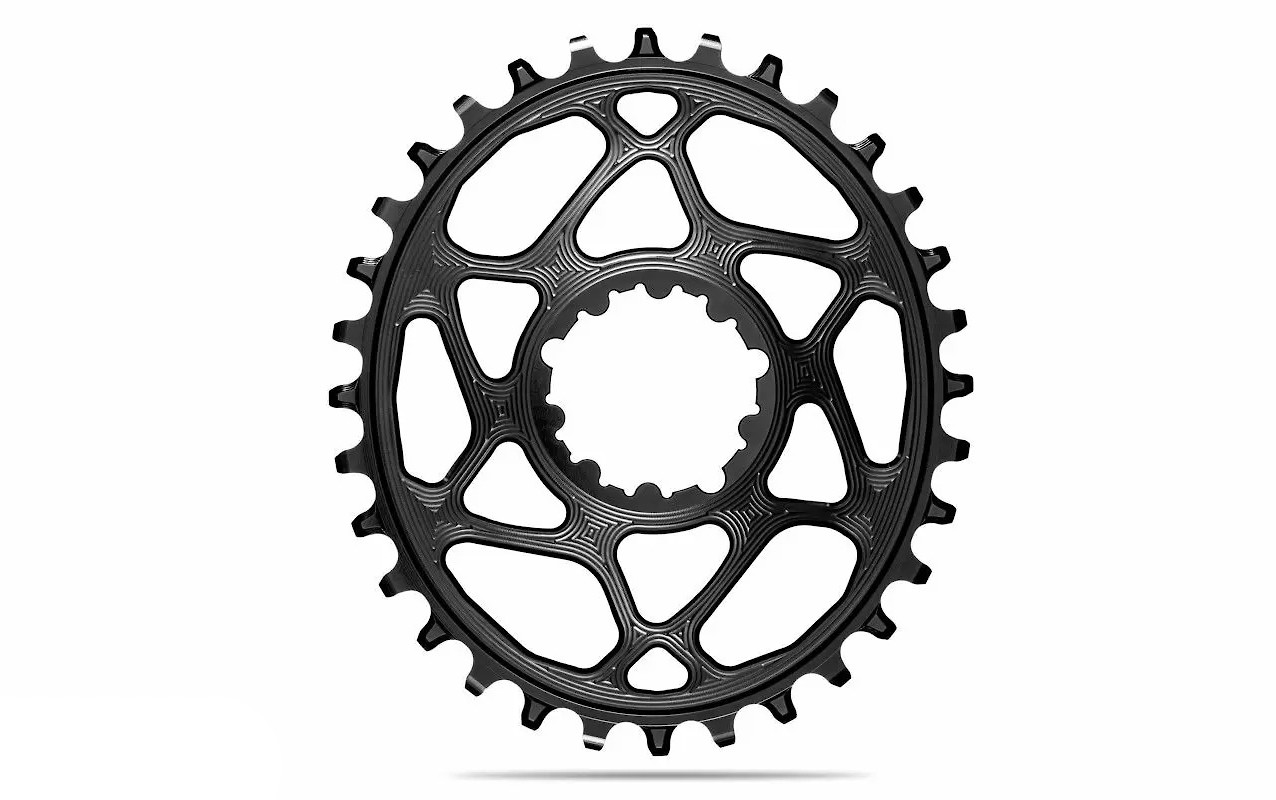 absoluteBLACK Oval Direct Mount SRAM Boost 3mm offset Chainring - Black