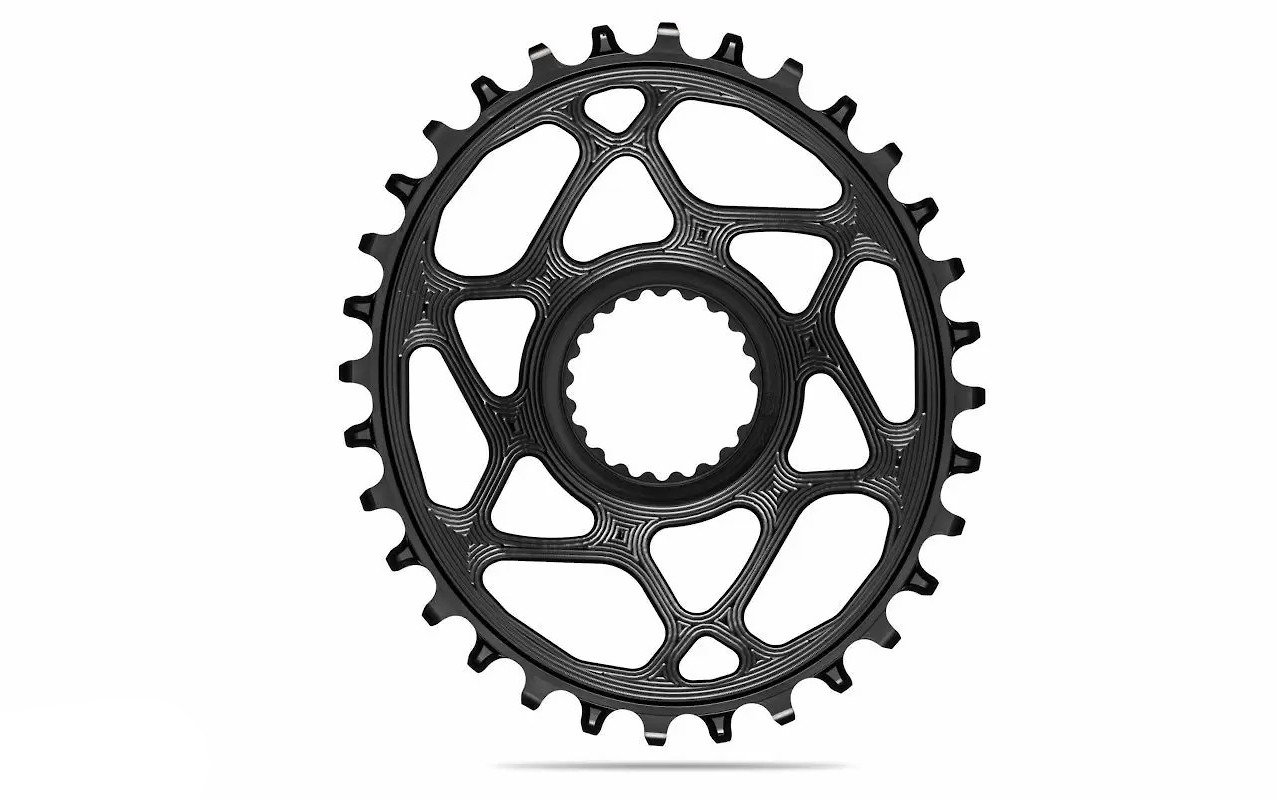 absoluteBLACK Oval Direct Mount Shimano HYPERGLIDE+ Chainring - Black