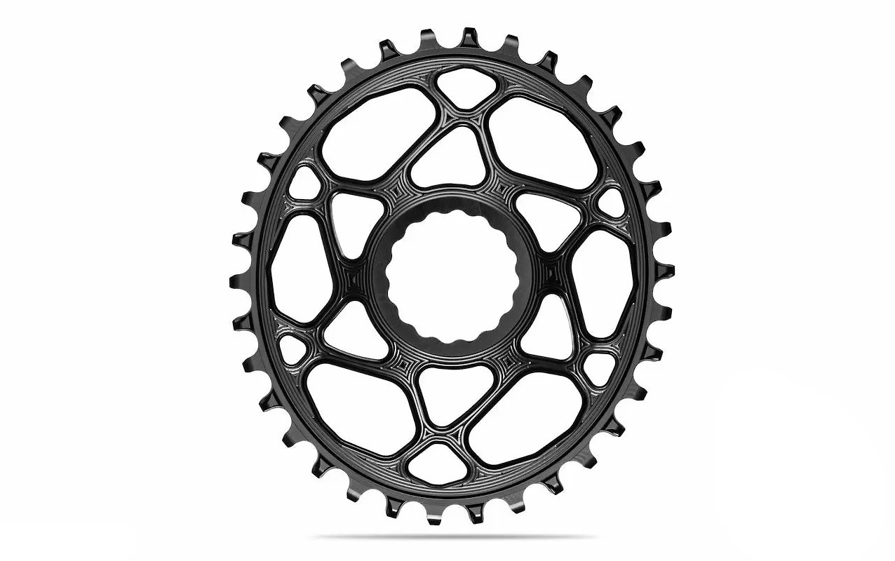 absoluteBLACK Oval Direct Mount Race Face Cinch 6mm offset Chainring - Black