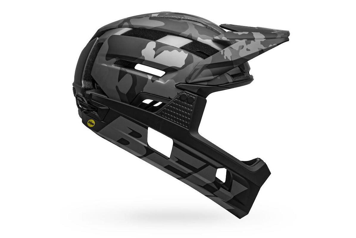 Bell Super Air R MIPS Full Face Helmet - Matte/Gloss Black Camo