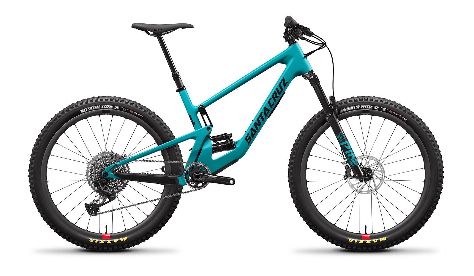 2021 Santa Cruz 5010 Carbon CC X01 (Loosely Blue and Black, with Santa Cruz Reserve Carbon rims)