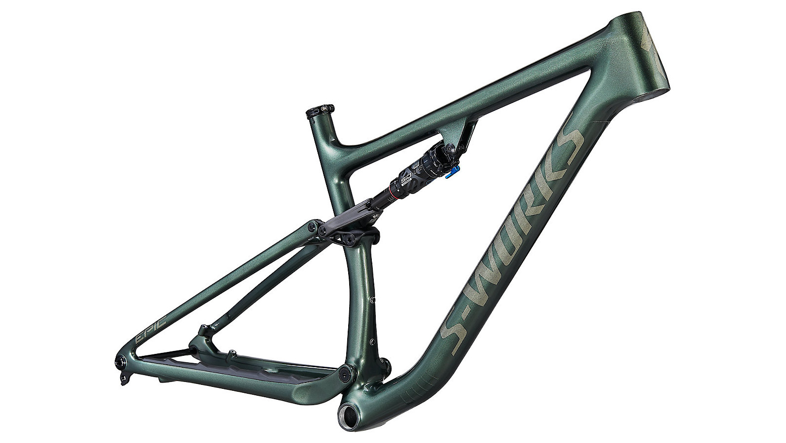 Specialized Epic EVO S-Works Frame (Gloss Oak Green Metallic/Diamond Dust)