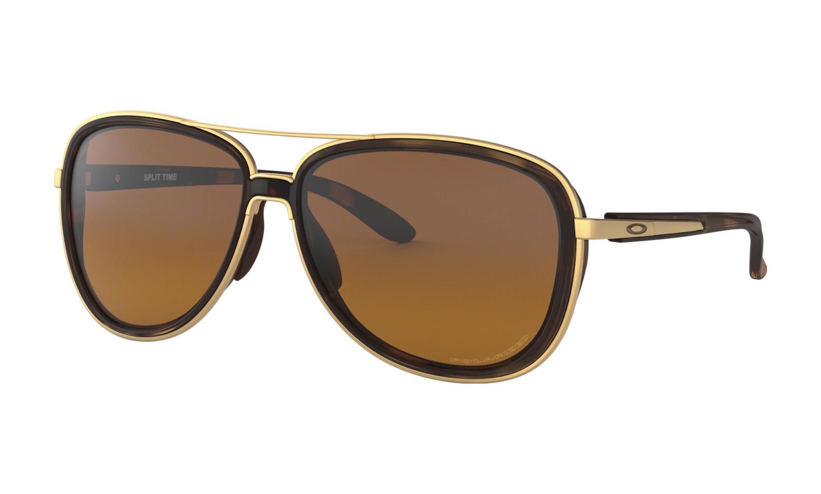Oakley Split Time Women's - Brown Tortoise frames with Brown Gradient Polarized lenses