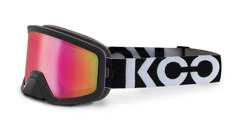Black with pink mirror lens