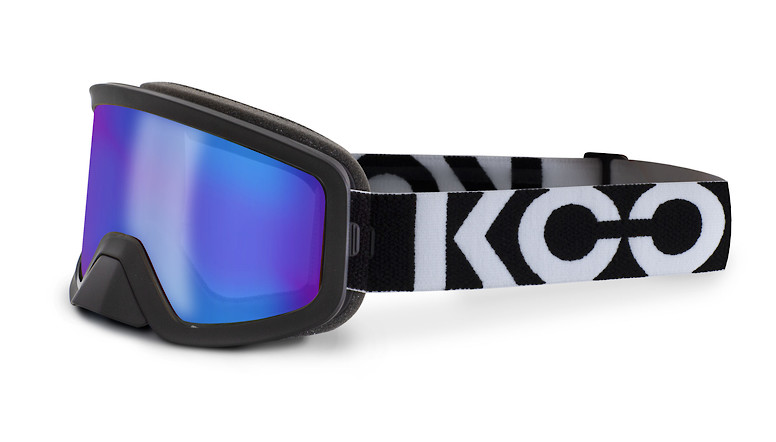 Black with blue mirror lens
