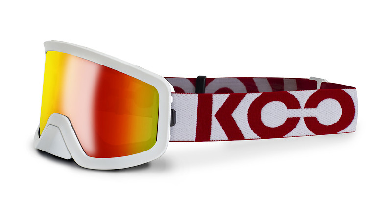 White/red with red mirror lens