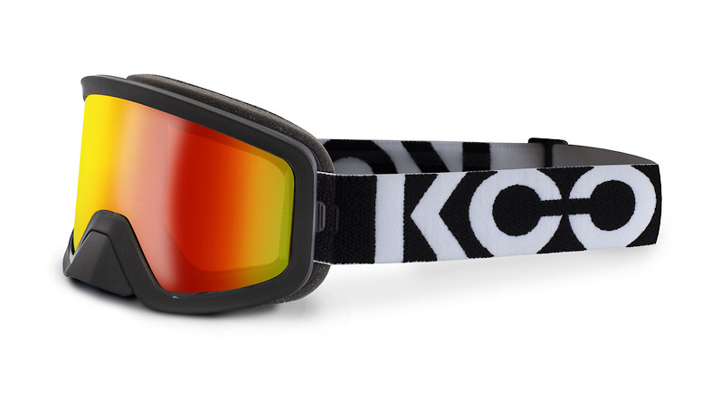 Black with red mirror lens