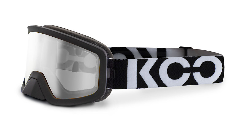 Black with clear lens