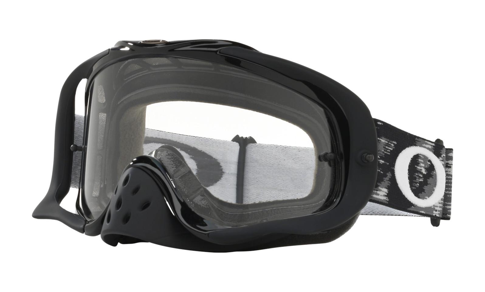 Oakley Crowbar MX Goggles - Jet Black Speed frame, Clear lens