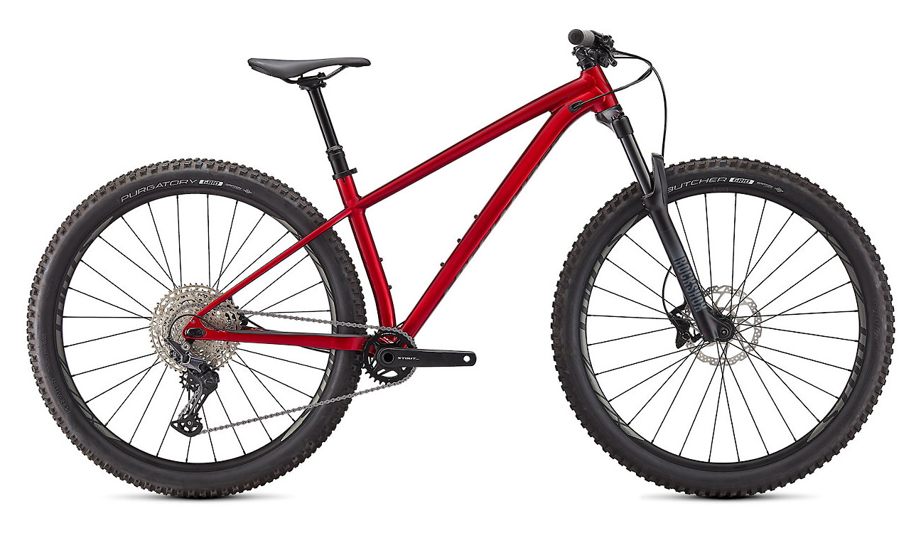 2021 Specialized Fuse Comp 29 (Gloss Red Tint/Flake Silver/Silver Foil)