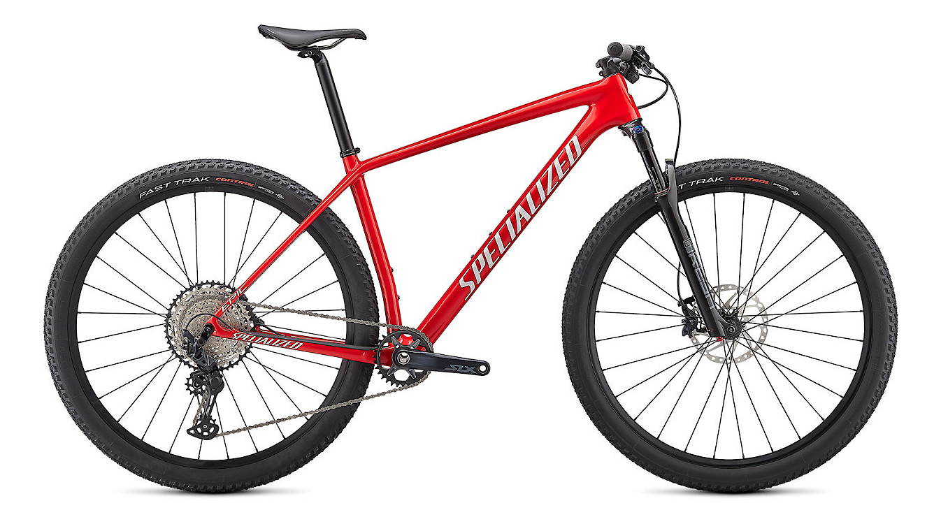 2021 Specialized Epic Hardtail Comp (Gloss Flo Red/Red Ghost Pearl/Metallic White Silver)