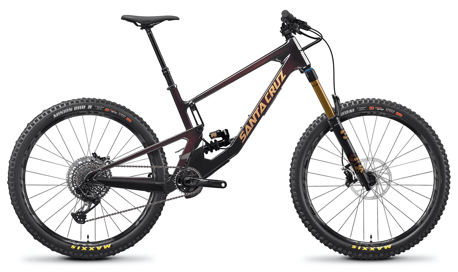 2021 Santa Cruz Nomad X01 Coil Carbon CC (Oxblood and Tan)