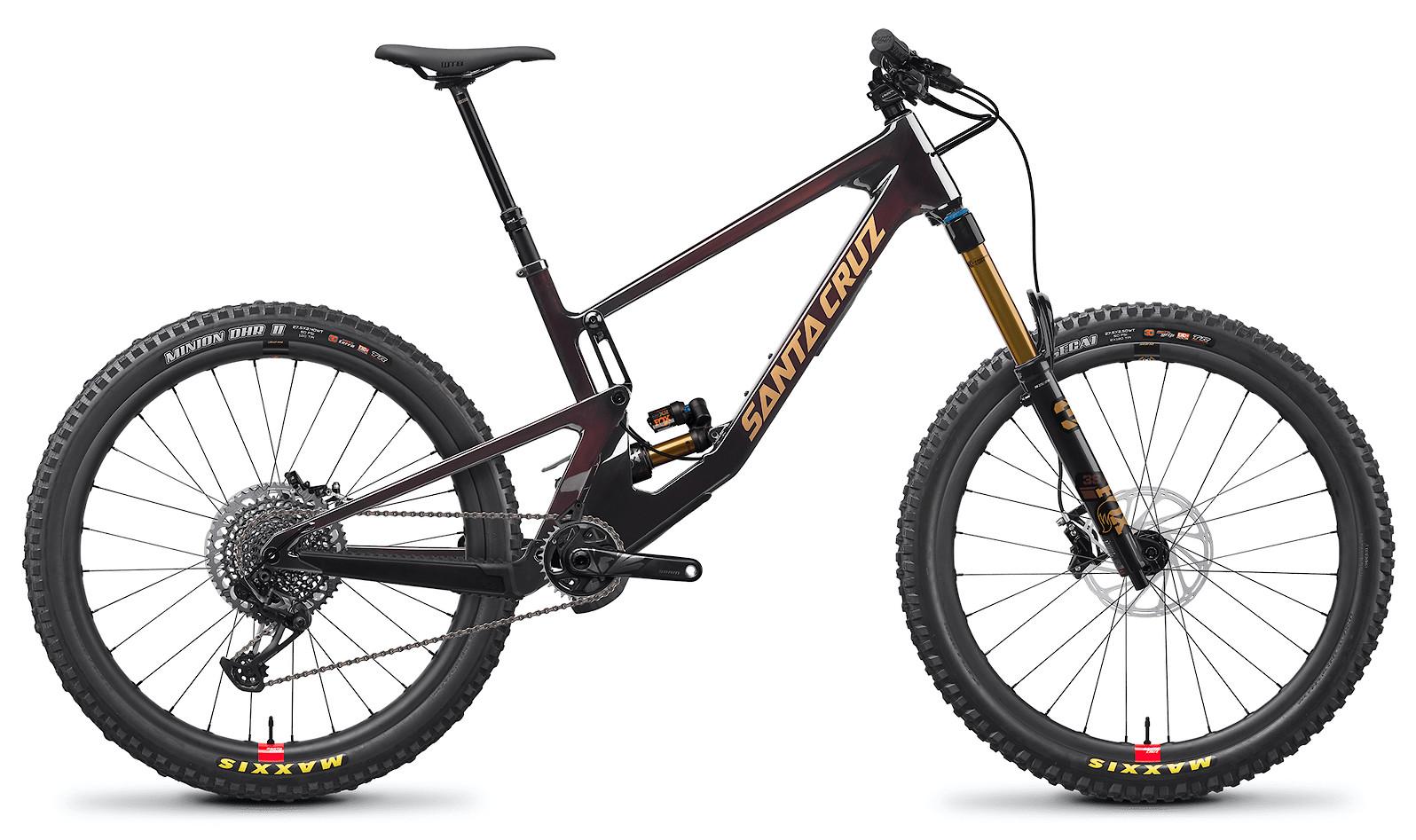 2021 Santa Cruz Nomad X01 Carbon CC Reserve (Oxblood and Tan)