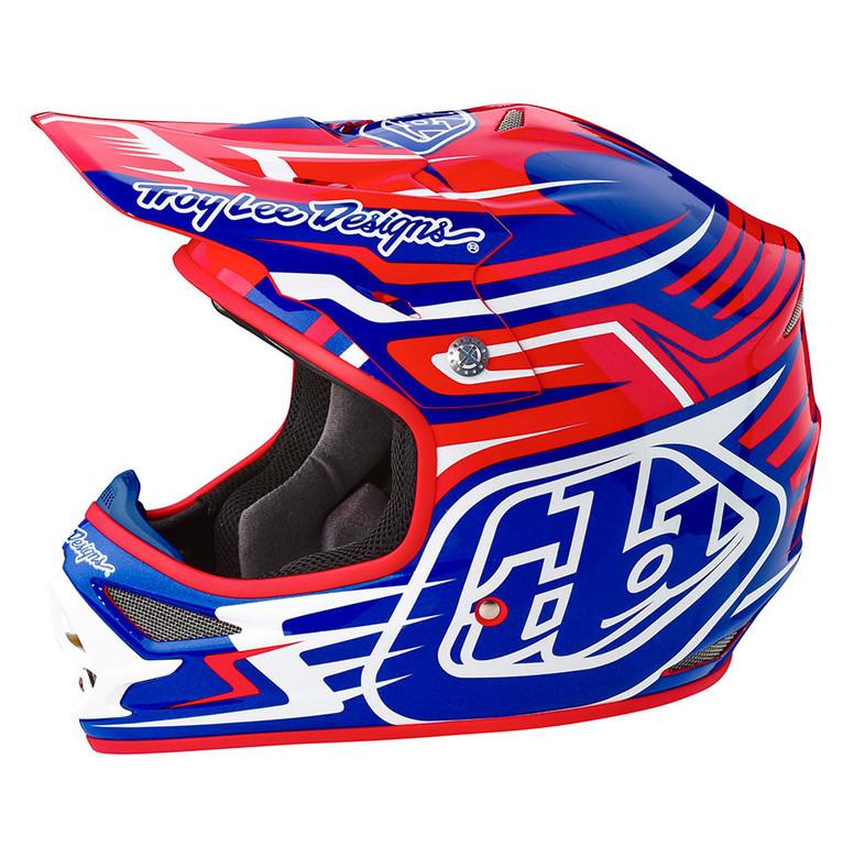 TLD Air Helmet - Scratch Blue:Red