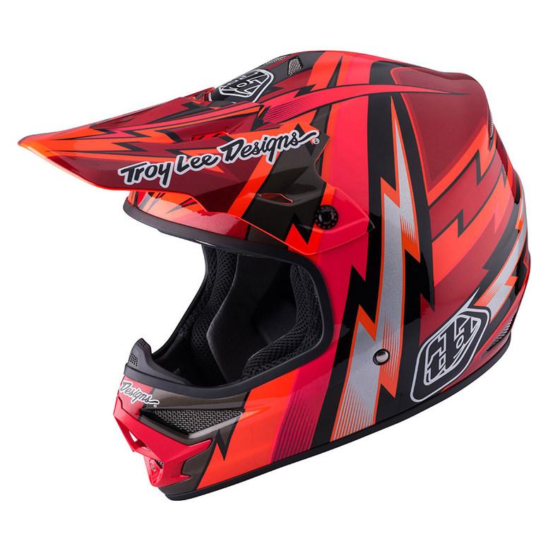 TLD Air Helmet - Beams Red