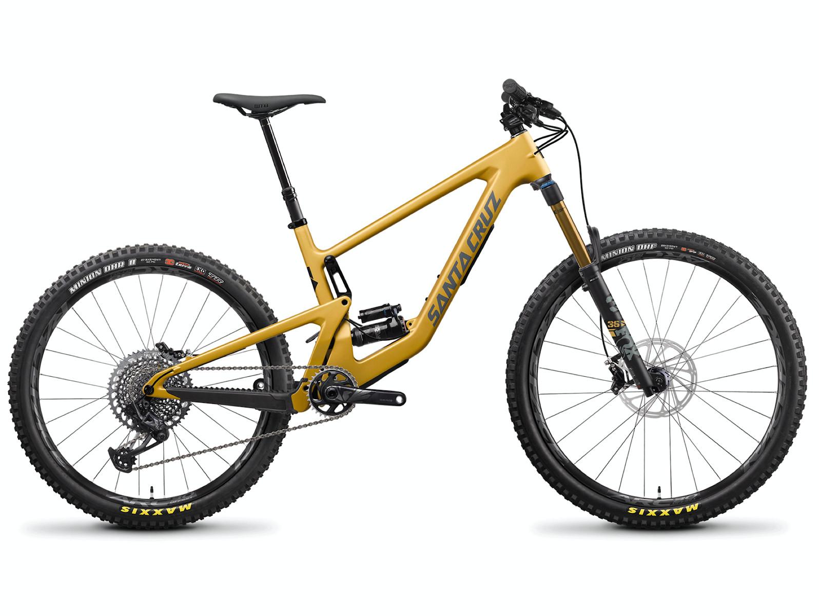 2022 Santa Cruz Bronson MX Carbon CC X01 Bike (Paydirt Gold and Grey)