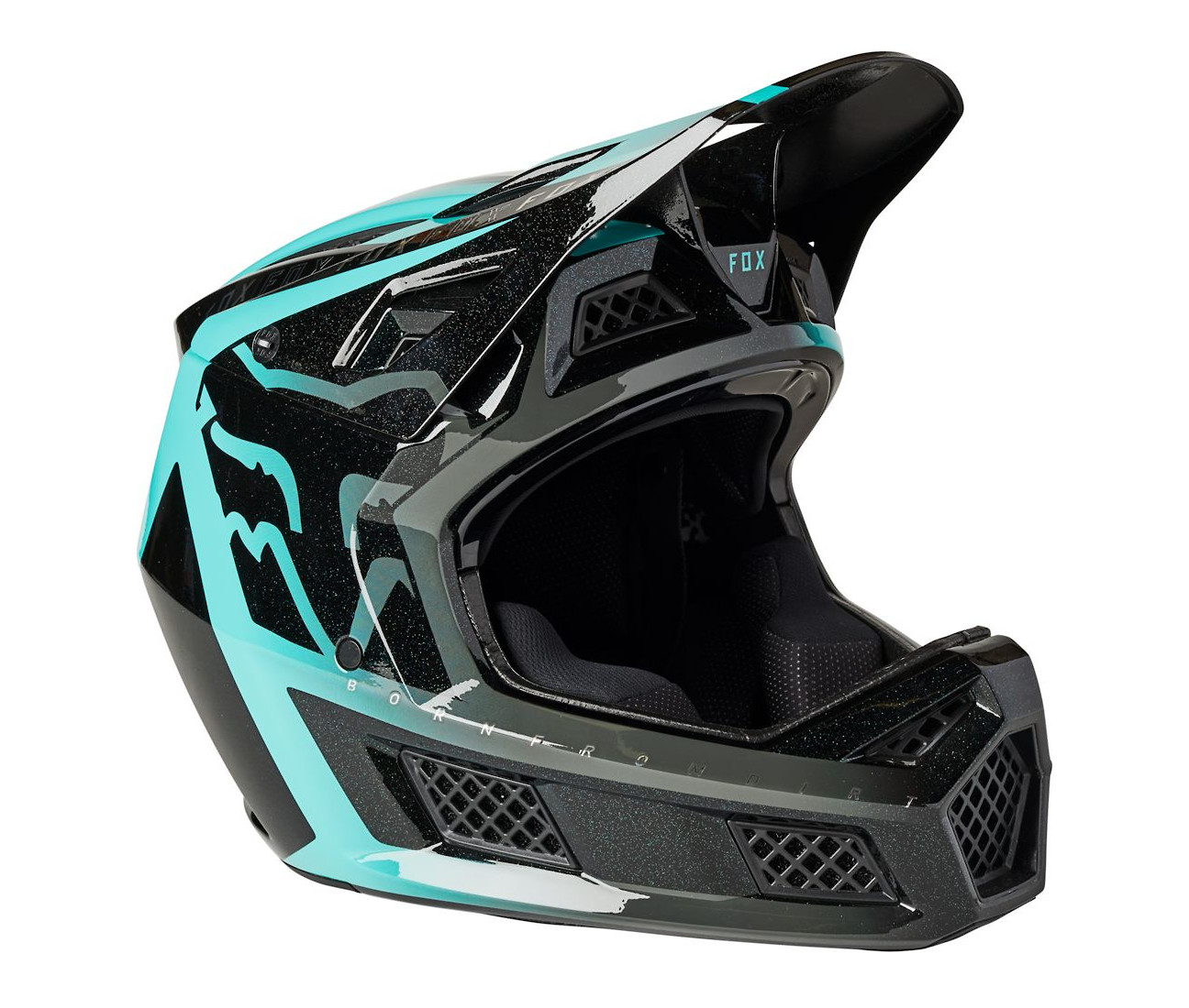 2021 Fox Racing Rampage Pro Carbon MIPS (black/teal)