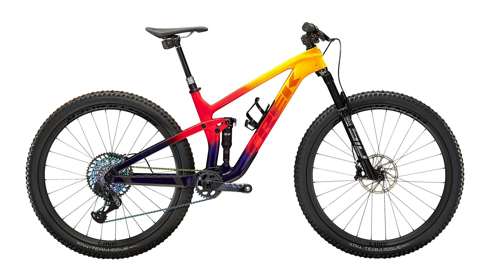 2022 Trek Top Fuel 9.9 XX1 AXS (Marigold to Red to Purple Abyss Fade)
