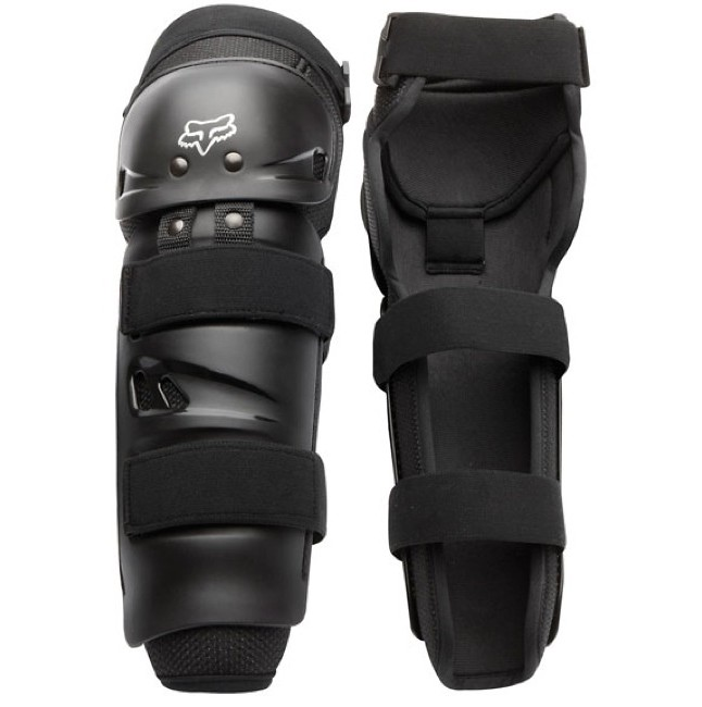 Fox Racing Launch Sport Protective Knee and Shin Guard Pair Black One Size