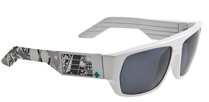 Spy Optic Spy Blok Sunglasses White W/ Crazy Print/Grey Lens  spy-blok-sungls-whtcrzyprnt-gry-11.jpg