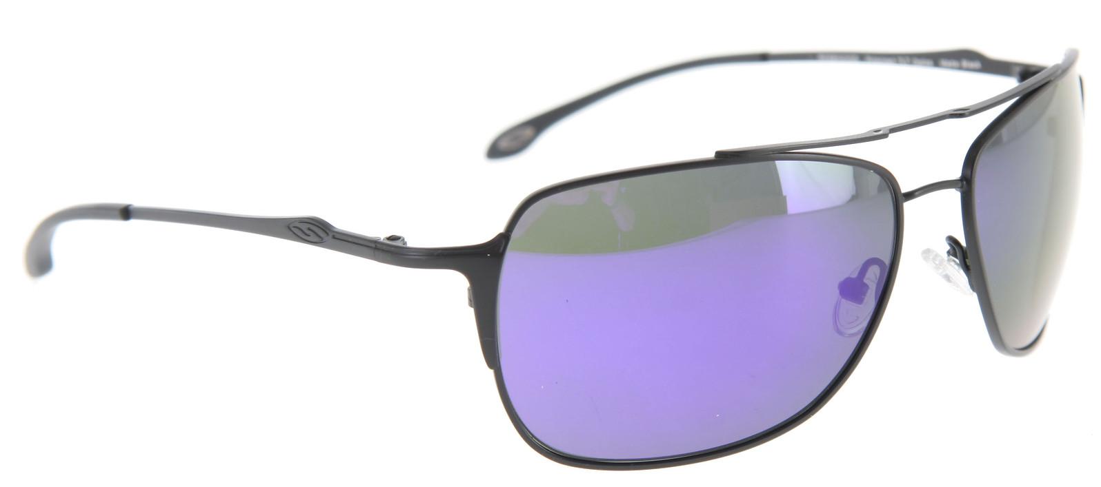 5f4b44aa92 Smith Rosewood Sunglasses Matte Black Polarized Deep Purple Mirror Lens