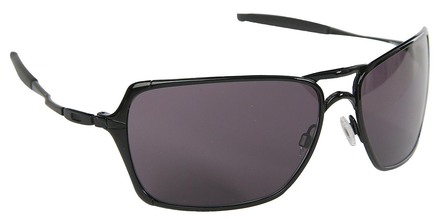 Oakley Inmate Sunglasses Polished Black Warm Grey Lens