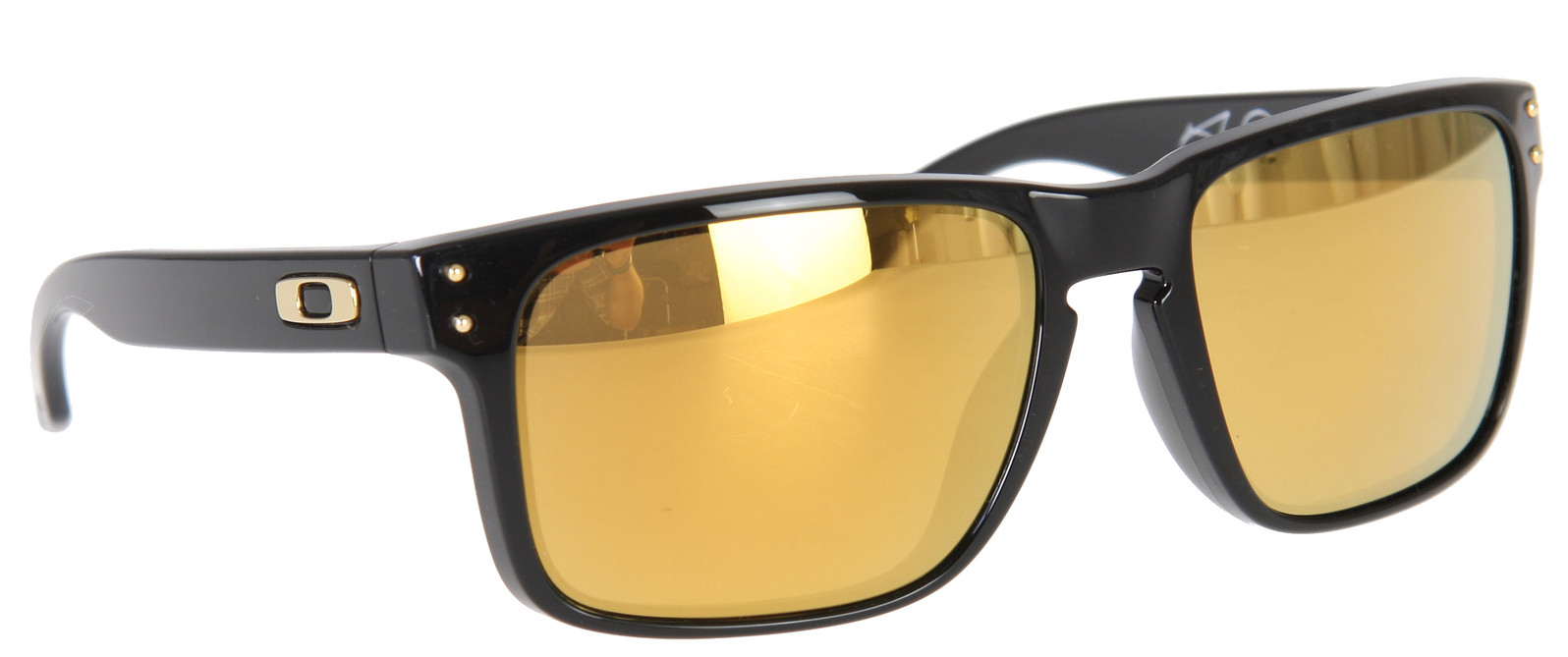 5c551b4575 Oakley Holbrook Shaun White Sunglasses Polished Black 24K Gold Iridium Lens