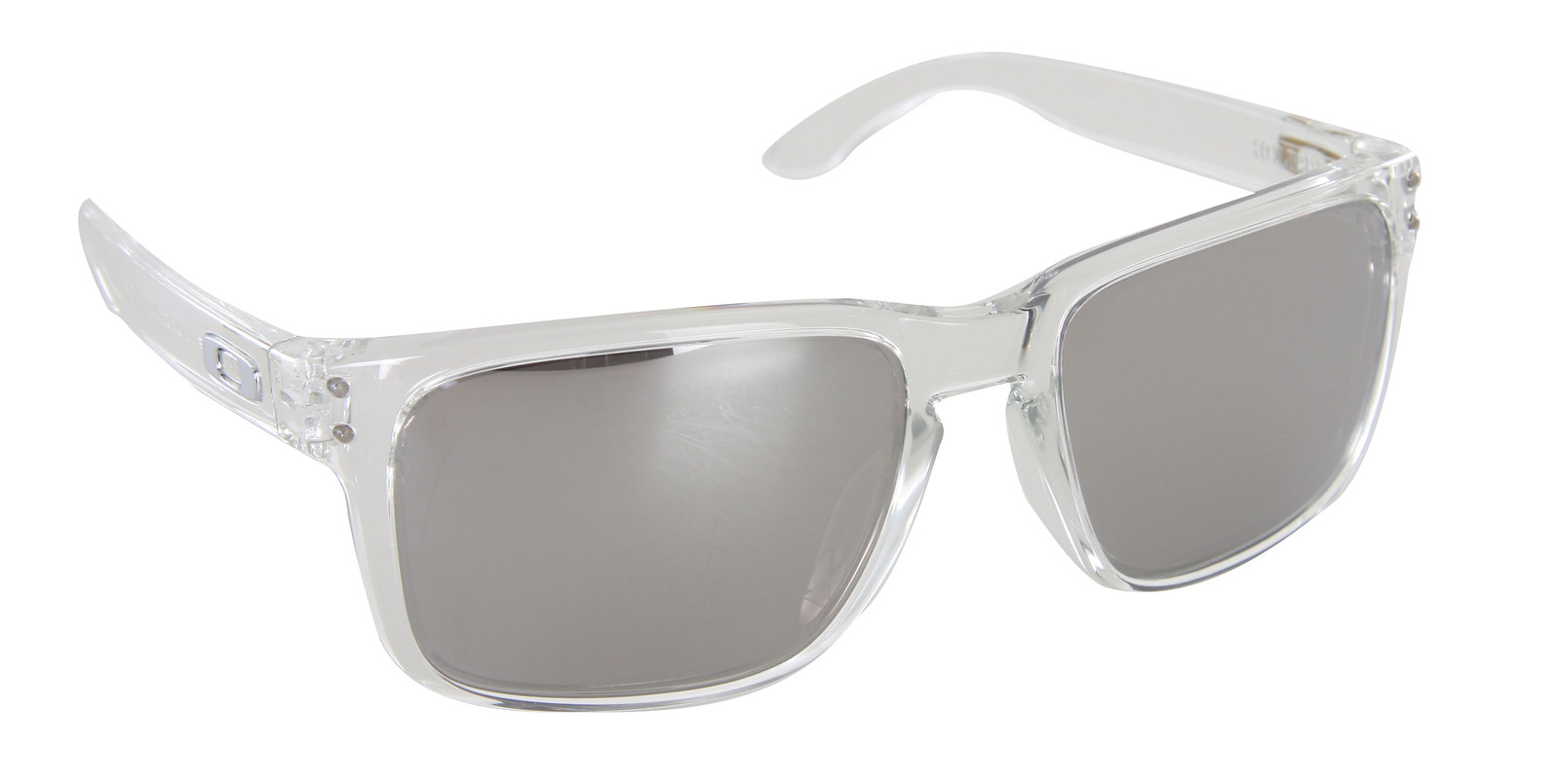e1562beaf5 Oakley Holbrook Sunglasses Crystal Clear Chrome Iridium Lens ...