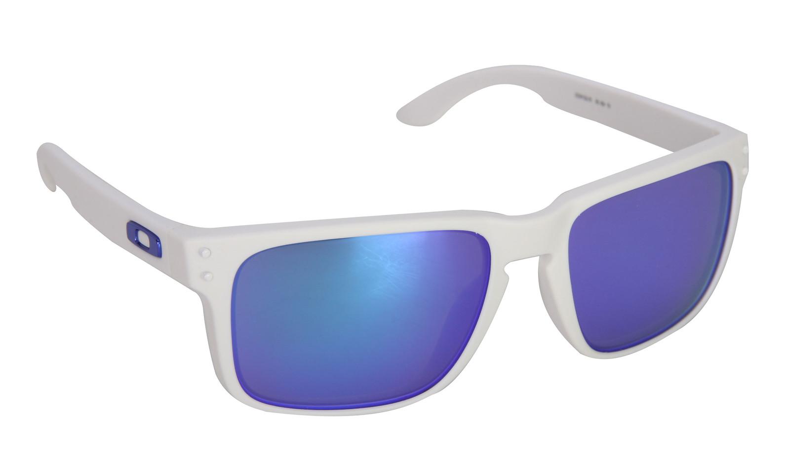 e8fbd8ecb6d7b Oakley Holbrook Sunglasses Matte White Violet Iridium Lens - Reviews ...