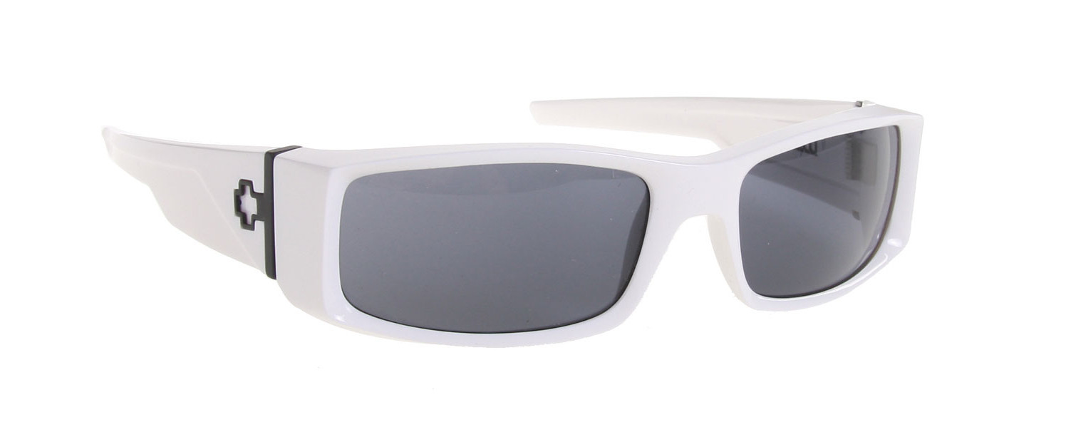 7aced80806 Spy Optic Spy Hielo Sunglasses White Shiny Grey Lens - Reviews ...