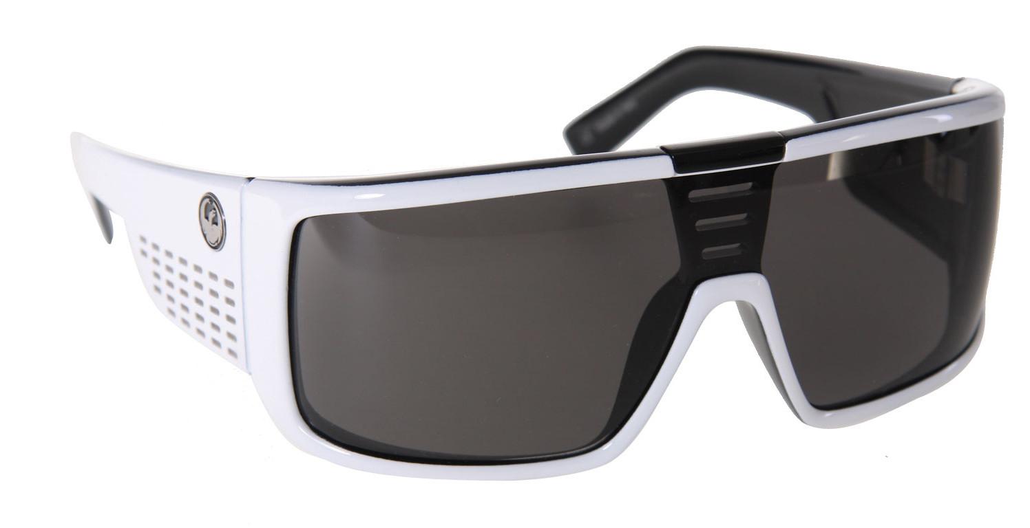 27198800331 Dragon Domo Sunglasses White Black Grey Lens - Reviews