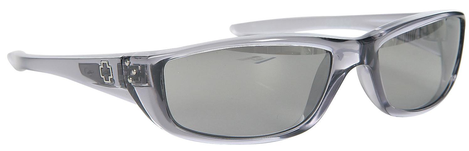 b248070c774e8 Spy Optic Spy Curtis Sunglasses Clear Smoke Grey Silver Gradient Lens