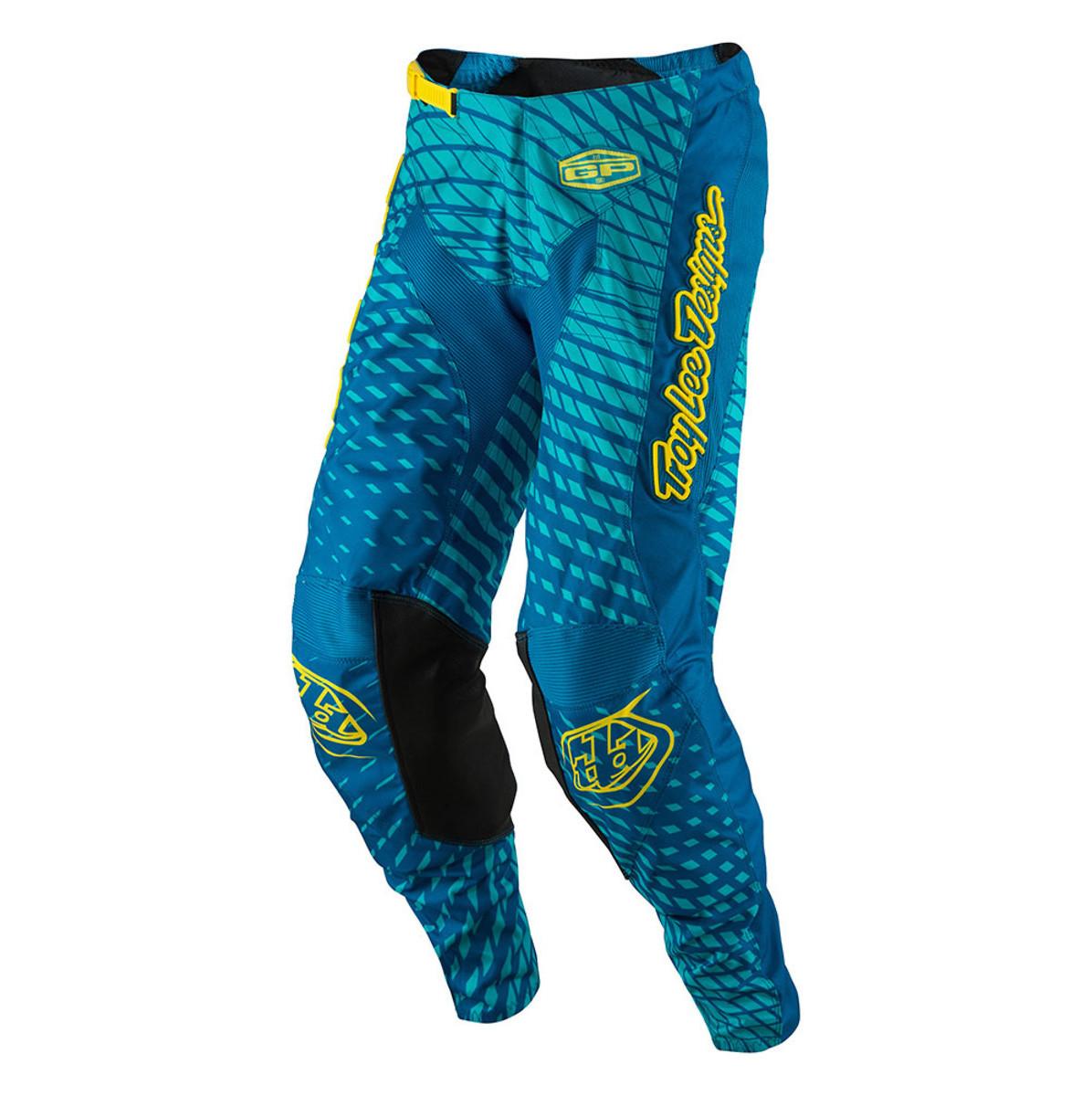 TLD GP Moto Pants - Tremor Blue:Yellow