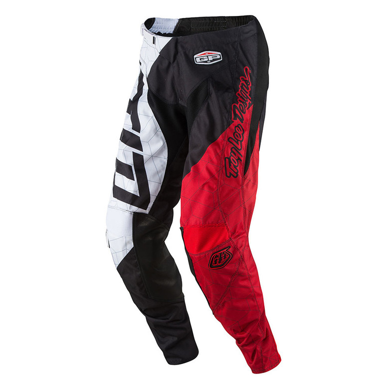 TLD GP Moto Pants - Quest Red:White
