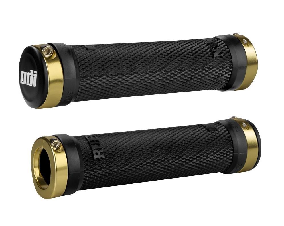 ODI SDG Lock-On Mtb Grips w//Clamps Bonus Pack Black w// Black Clamps Bike