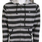 Dragon Live Wire Stripe Zip Hoodie Heather Grey
