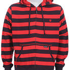 Dragon Live Wire Stripe Zip Hoodie Fiery Red