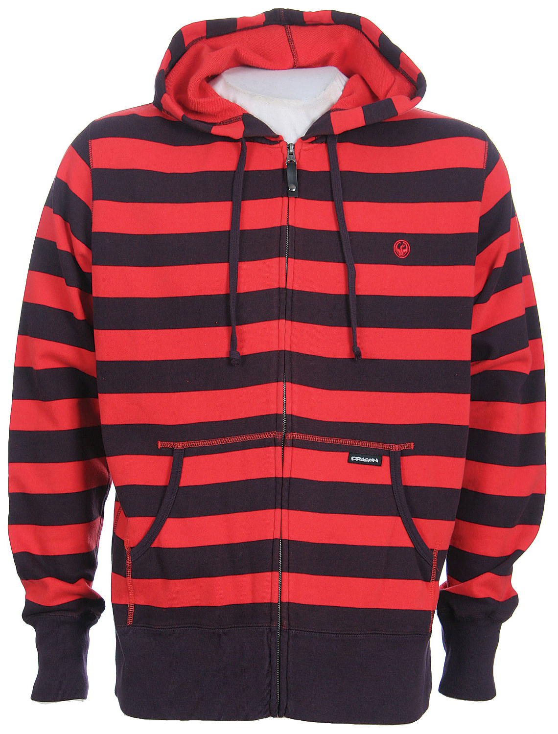 Dragon Live Wire Stripe Zip Hoodie Fiery Red  dra-livewire-frd-08.jpg