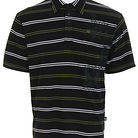 Dragon Mad Stripe Polo Shirt Black