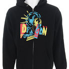 Dragon Grafik Content Zip Hoodie Black