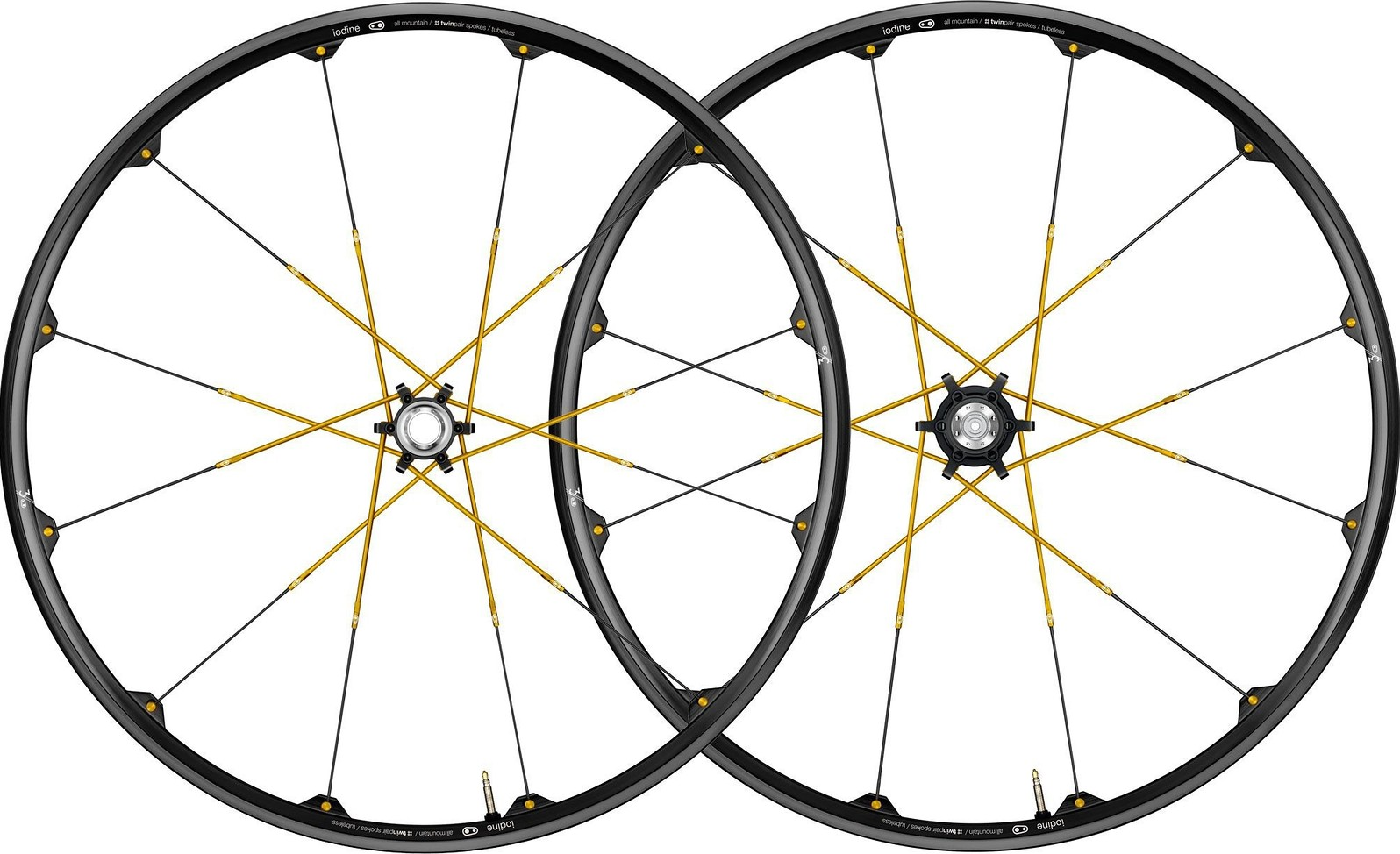 Crank Brothers Iodine 3 Wheelset Black:Gold