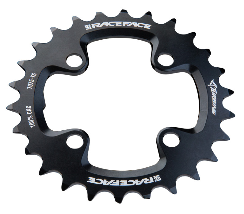 Race Face Turbine 9 Speed Chainrings 2015_Turbine_26T_BlkWht