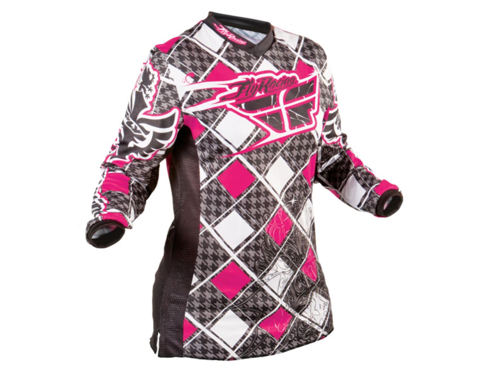 Fly Racing (2010) Women's Kinetic Jersey 2010 Fly Racing Kinetic Girls Jersey (pink)