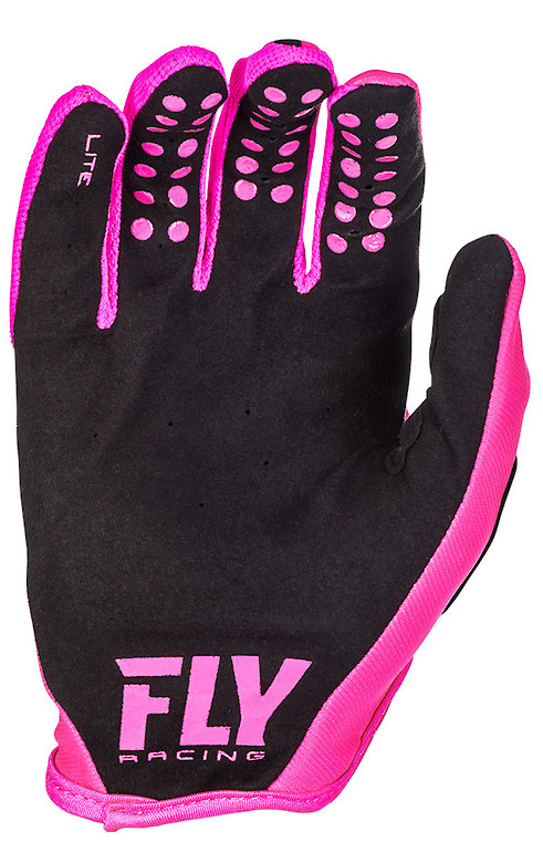 Fly Racing Lite Gloves (Neon Pink Black - Palm)