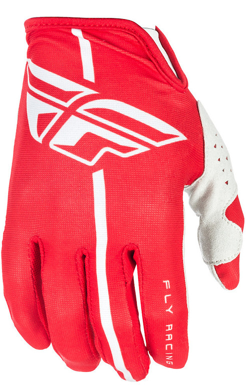 Fly Racing Lite Gloves (Red Grey)