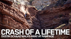 CRASH OF A LIFETIME: Dustin Schaad Walks Away from Over the Bars off 30-foot Cliff at Rampage