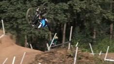 Crazy Crash! Bruni Bailing Like a Champ